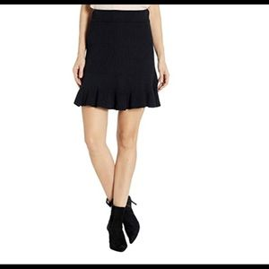 FREE PEOPLE Solid Black knit skirt